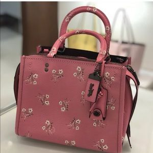 Coach 1941 Rogue 25 with Floral Bright Pink 26836